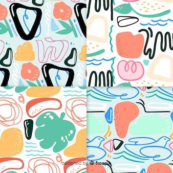 Hand gezeichnete abstrakte mustersammlung