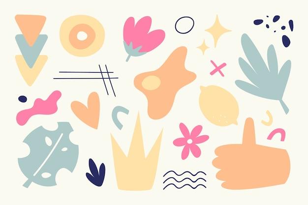Hand gezeichnete abstrakte organische formen hintergrund