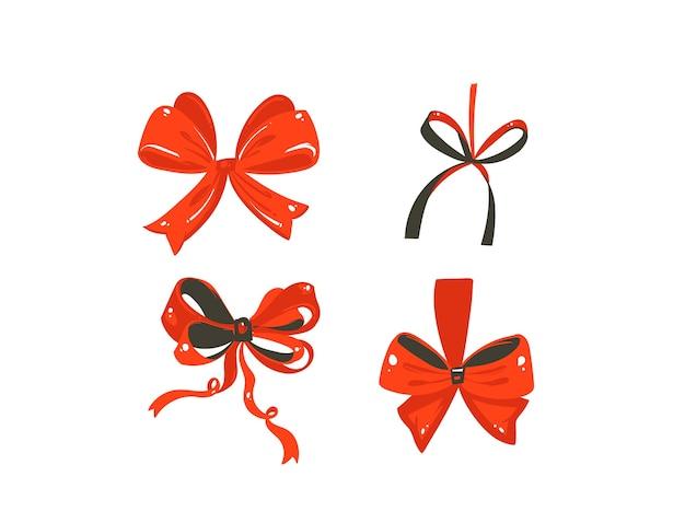 Hand gezeichnete abstrakte spaß frohe weihnachten zeit cartoon niedlichen illustrationen