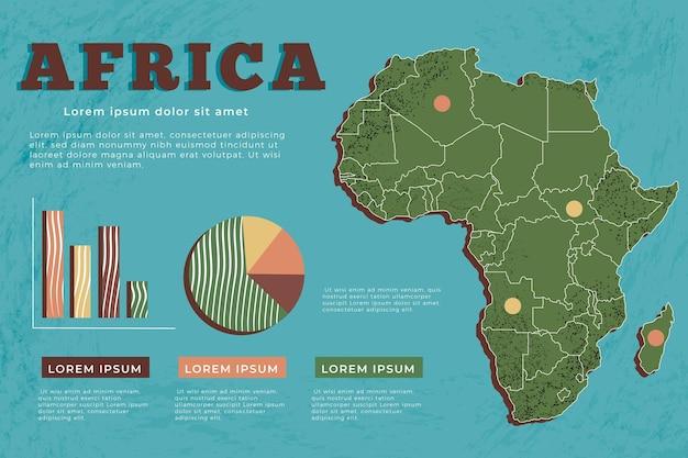 Hand gezeichnete afrika-karten-infografik