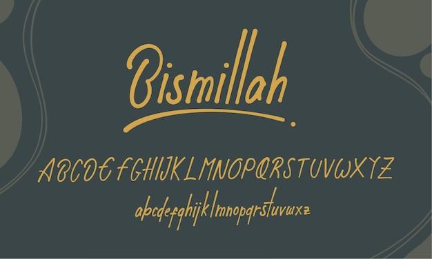 Hand gezeichnete alphabet buchstaben schriftart reguläre groß- und kleinbuchstaben premium