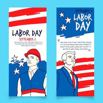 Hand gezeichnete arbeitstag banner