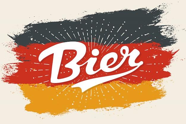 Hand gezeichnete beschriftung bier