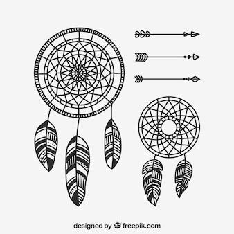 Hand gezeichnete boho-elementsammlung