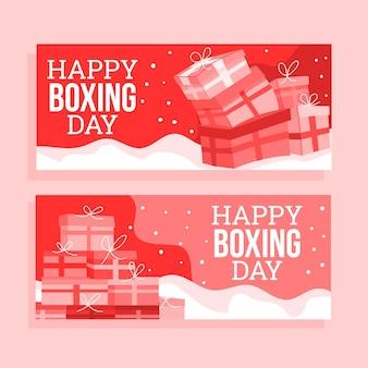 Hand gezeichnete boxing day sale banner vorlage