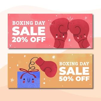 Hand gezeichnete boxing day sale banner