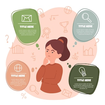Hand gezeichnete brainstorming-infografiken