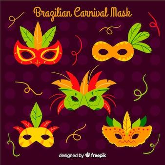 Hand gezeichnete brasilianische karnevalsmaske