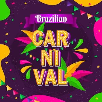 Hand gezeichnete brasilianische karnevalsschablone