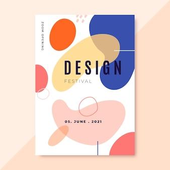 Hand gezeichnete bunte designplakate