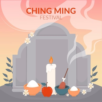 Hand gezeichnete ching ming festival illustration