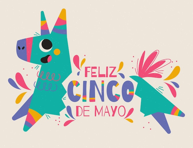 Hand gezeichnete cinco de mayo illustration