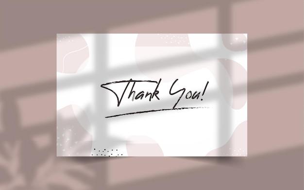Hand gezeichnete dankeskartenschablone