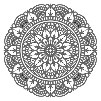 Hand gezeichnete dekorative mandala illustration