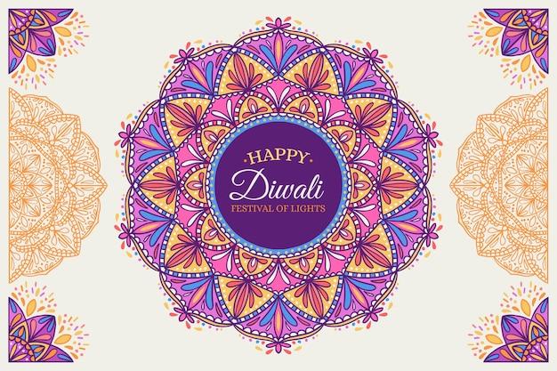 Hand gezeichnete design-diwali-feier