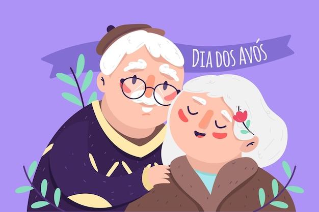 Hand gezeichnete dia dos avos illustration