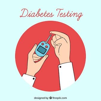 Hand gezeichnete diabetes-testblutzusammensetzung