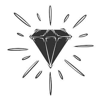 Hand gezeichnete diamantillustration
