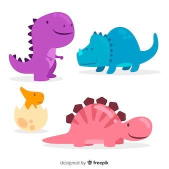 Hand gezeichnete dinosauriersammlung