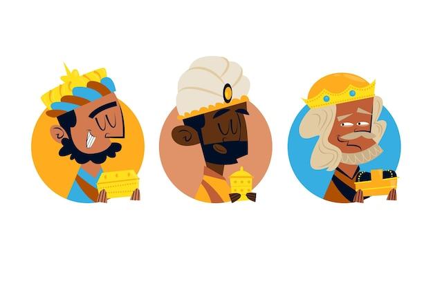Hand gezeichnete drei weise männer