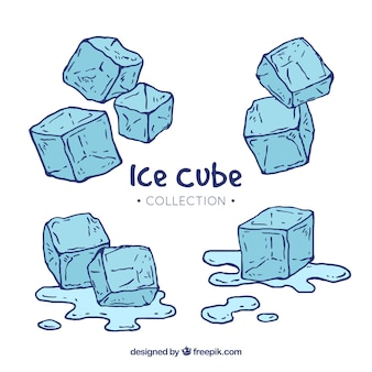 Hand gezeichnete Eiswürfelsammlung