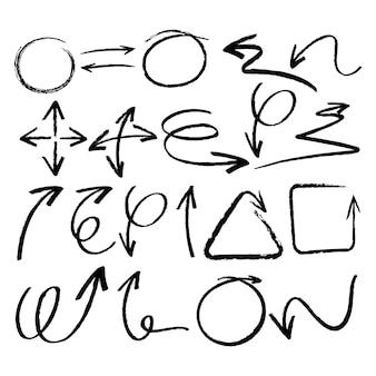 Hand gezeichnete Elemente Sammlung