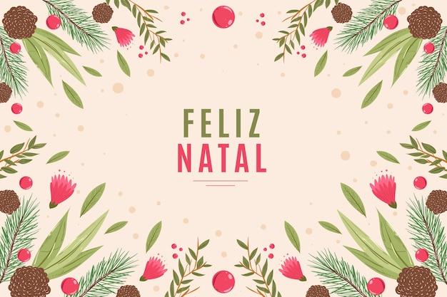 Hand gezeichnete feliz natal