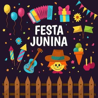 Hand gezeichnete festa junina