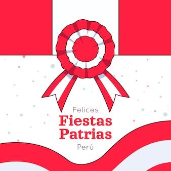 Hand gezeichnete fiestas patrias de peru illustration Kostenlosen Vektoren