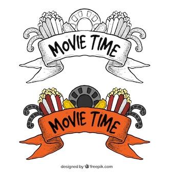Hand gezeichnete film banner