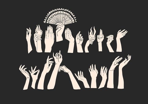 Hand gezeichnete flache grafische illustration des abstrakten vektors auf lager