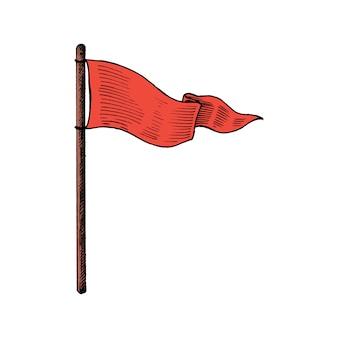 Hand gezeichnete flagge getrennt auf weißem hintergrund
