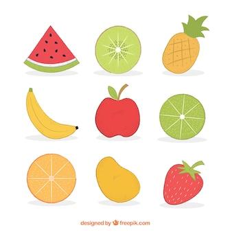 Hand gezeichnete früchte sortiment