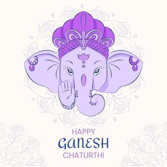 Hand gezeichnete ganesh chaturthi