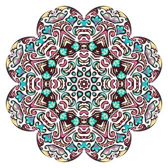 Hand gezeichnete gekritzel mandala illustration