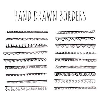Hand gezeichnete grenzen