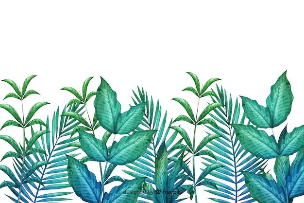 Hand gezeichnete grüne blattlinie