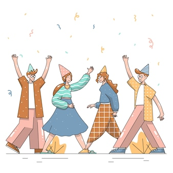 Hand gezeichnete gruppe von personen illustration