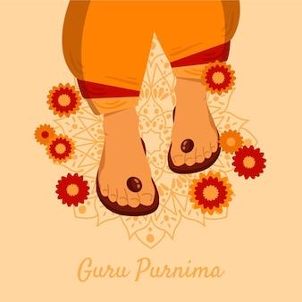 Hand gezeichnete guru purnima illustration