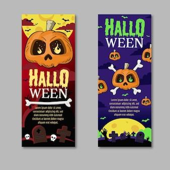 Hand gezeichnete halloween-banner