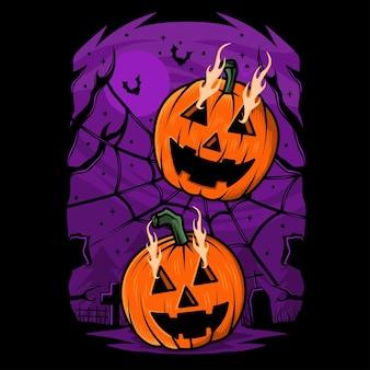 Hand gezeichnete halloween-kürbisillustration