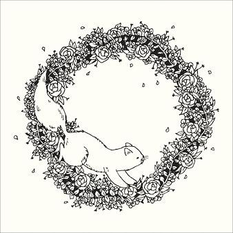 Hand gezeichnete illustration der design-fantasiesammlung der grafischen kunst des gekritzels.