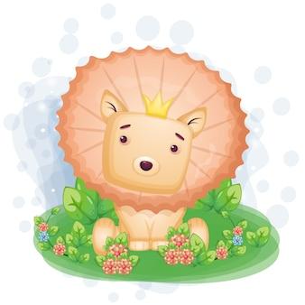 Hand gezeichnete illustration des könig der löwen