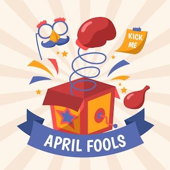 Hand gezeichnete illustration für april narrentag