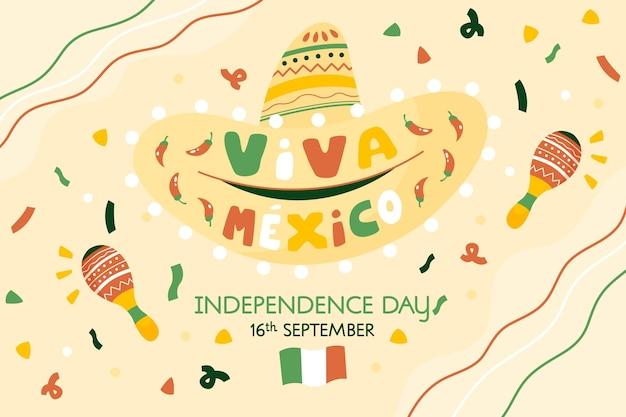 Hand gezeichnete independencia de mexiko