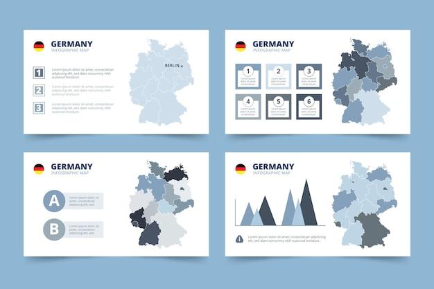 Hand gezeichnete infografik der deutschlandkarte