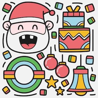 Hand gezeichnete karikatur weihnachten gekritzel