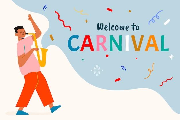 Hand gezeichnete karnevalsillustration