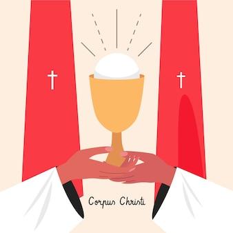 Hand gezeichnete korpus-christi-illustration