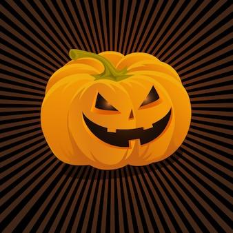 Hand gezeichnete kürbis für halloween. hand gezeichnete skizze. halloween-karte